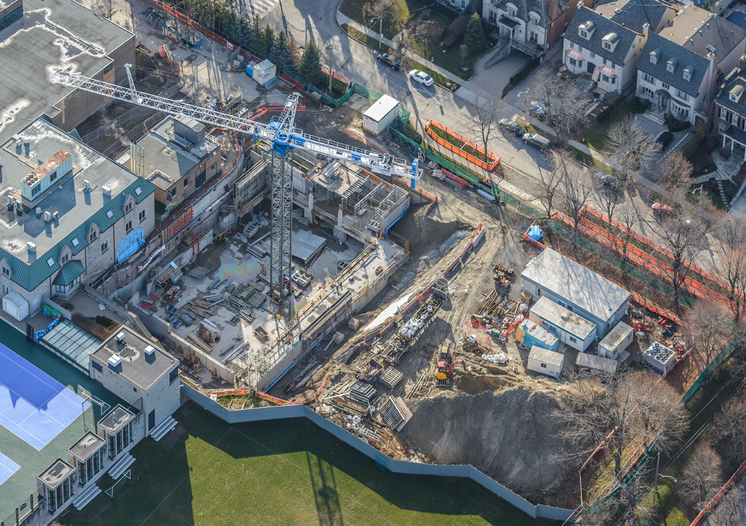 Aerial Photo of Bishop Strachan School Expansion Project, November 28, 2015