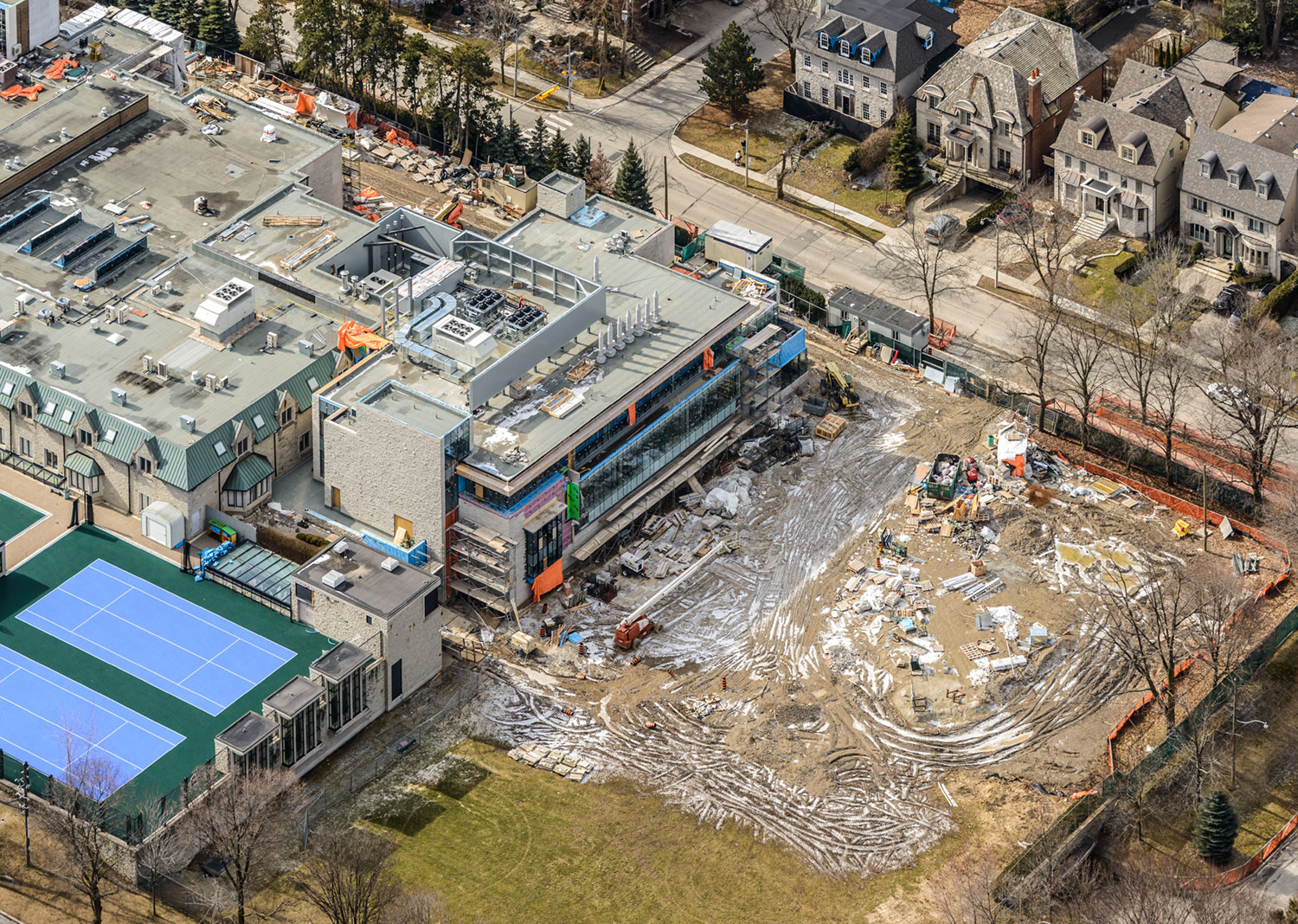 Aerial Photo of Bishop Strachan School Expansion Project, February 26, 2017